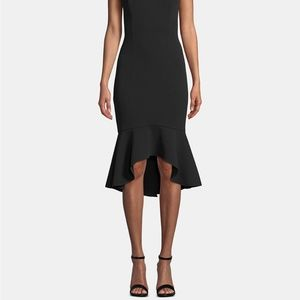 Betsy & Adam Dresses - Betsy & Adam Keyhole Lace-Flounce Midi Dress Black